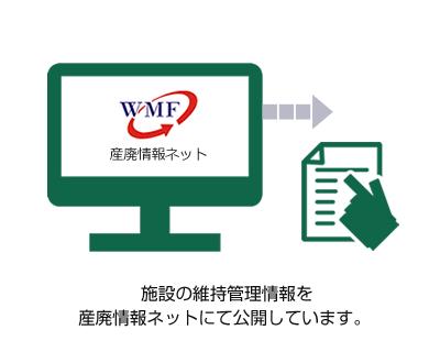 施設の維持管理情報を産廃情報ネットにて公開しています。